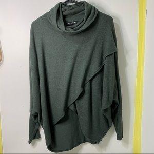 Nally & Millie Cowl Neck Dolman Sweater Size Large